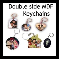 SUBLIMATION DOUBLE SIDE WOODEN KEYCHAIN