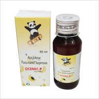60 ml Aceclofenac Paracetamol Suspension