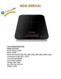 Stella 21c02 Table Top Induction Plate 2100 Watts 45 X 34 X 8 Cm Rs. 11800.00++