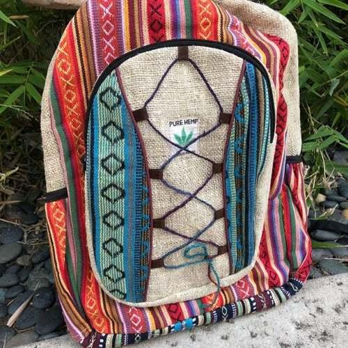 Handmade Natural Nepal Backpack