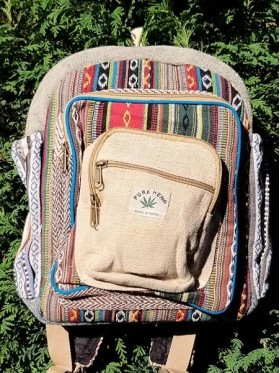 Himalayan Natural Handmade Multi Pocket Laptop Backpack