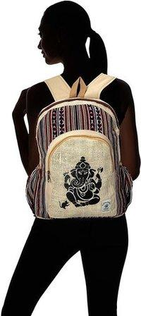 Print Large Multi Pocket Rucksack Backpack