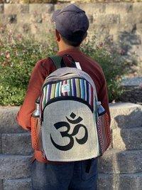 Om Patchwork Backpack Bags