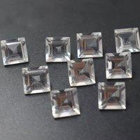 12mm Crystal Quartz Faceted Square Loose Gemstones