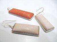 925 Sterling Silver Stamped Pendant Set Multi chalcedony Stone Gemstone Pendant