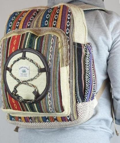 Print Large Pocket Rucksack Backpack