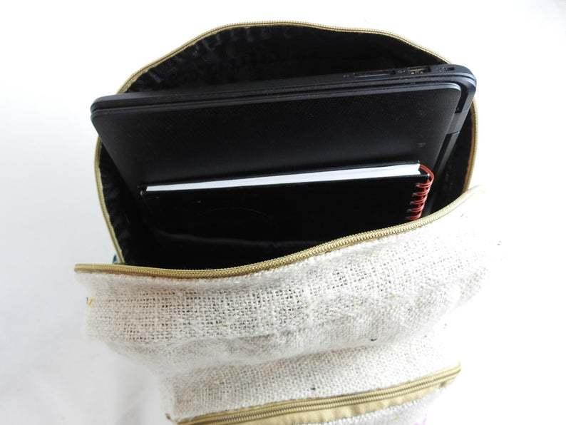 Buddha Print Premium Quality Natural Backpack