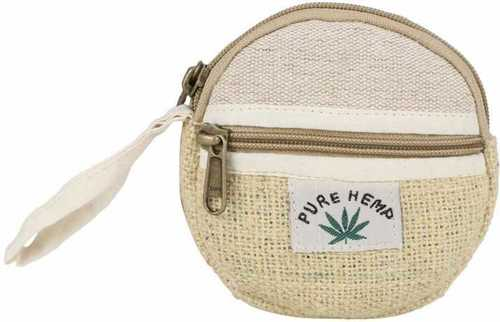 Small Coin Pouch Natural Fabric