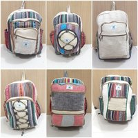 Cotton Backpack Handmade Nepal With Laptop Sleeve