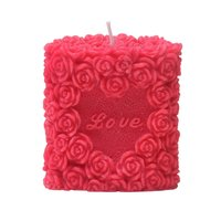 Love Rose Candle-Red, Tea Rose