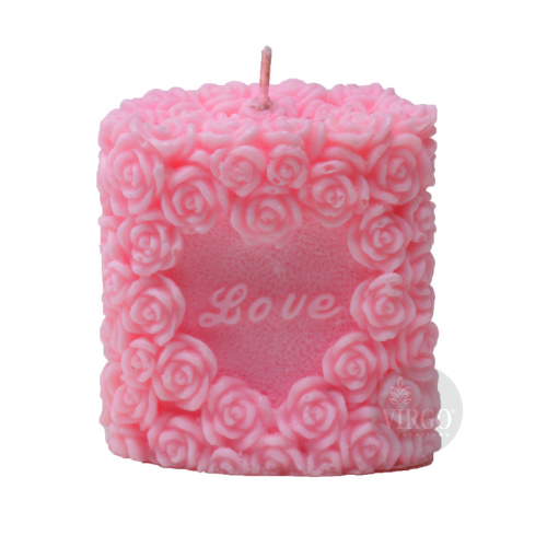 Love Rose Candle-Pink, Strawberry