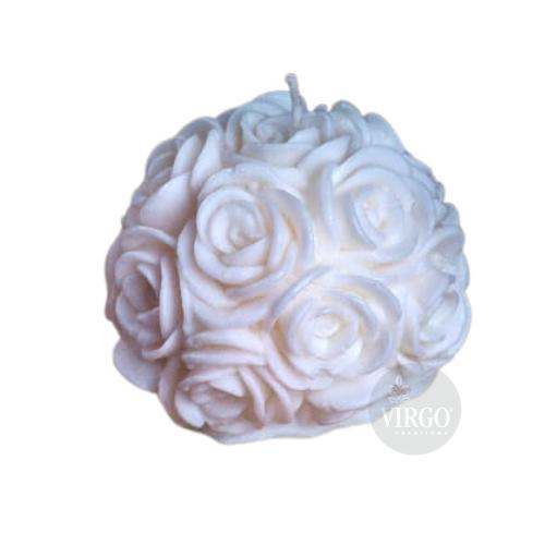 Big Rose White Candle