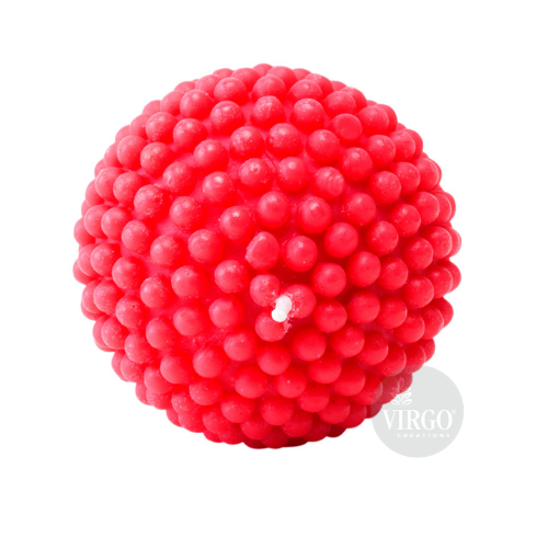 Pearl Ball Candle-Red, Tea Rose