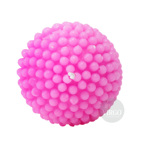 Pearl Ball Candle-Pink, Strawberry
