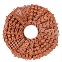 SILICONE CHOCOLATE MOULD BROWN