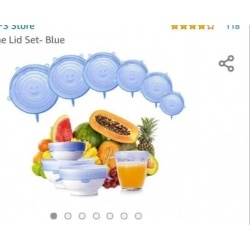 SILICONE LID PACK OF 6 PC