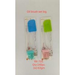 Silicone Oil Brush And Spatula Set Big