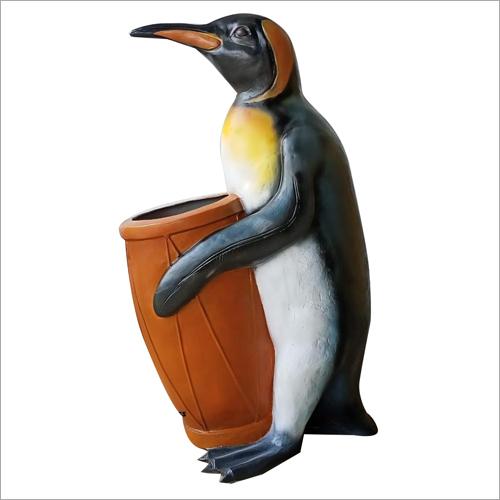 Fiberglass Penguin Dustbin