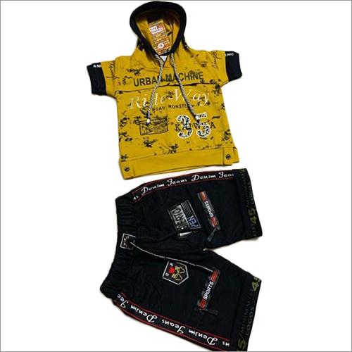 Boys Designer Printed T-Shirt And Jeans Short