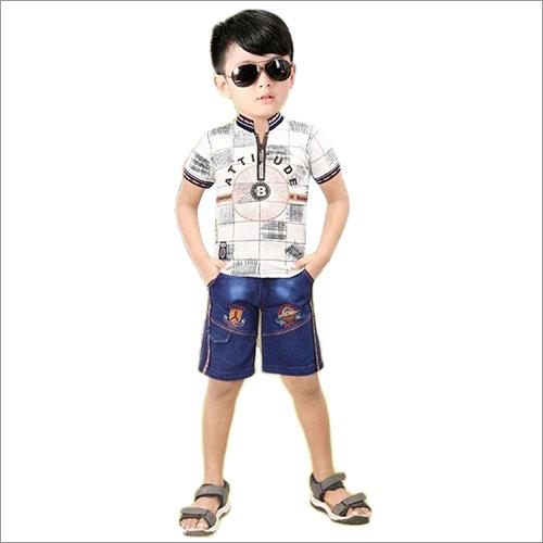 Boys Designer Print T-Shirt And Short