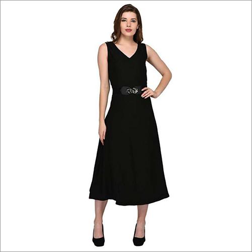 Ladies Black Long Dress