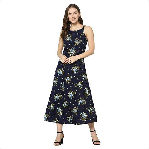 Ladies Printed Long Dress