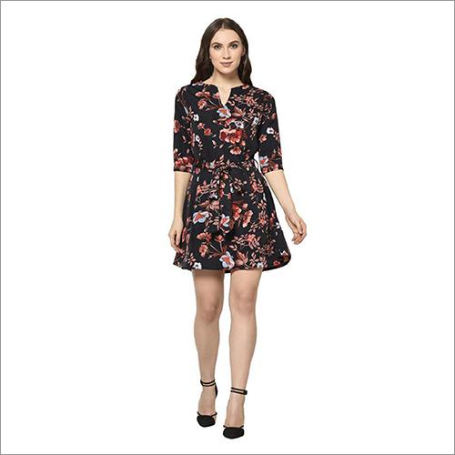 Ladies Short Printed Dress