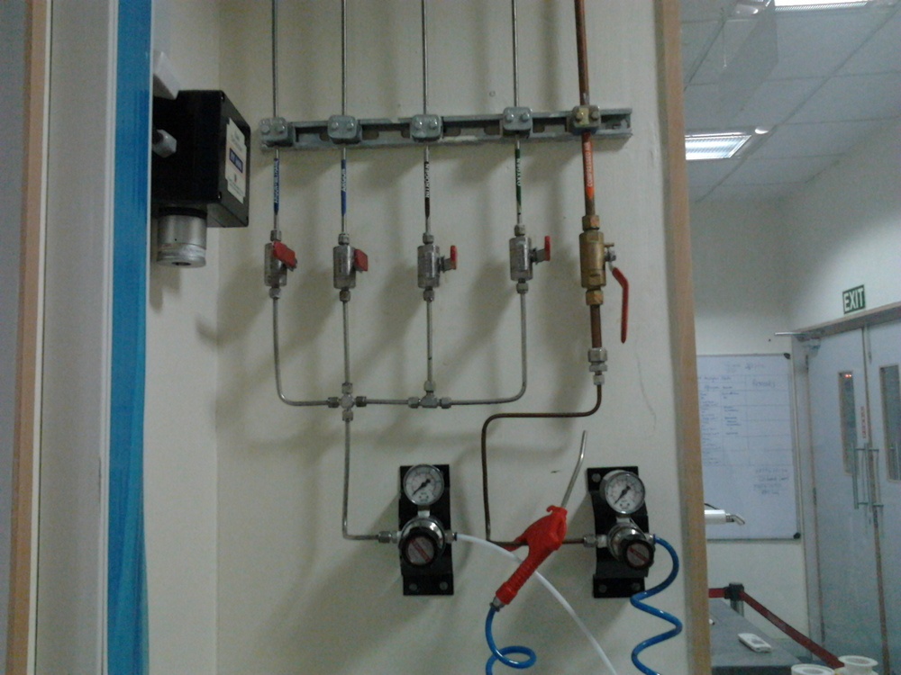 Gas Tubing System for Laboratory