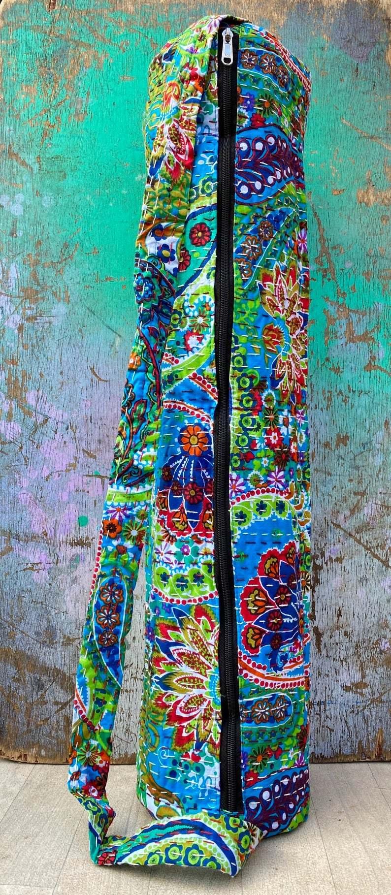 Flowered Yoga Mat Bag