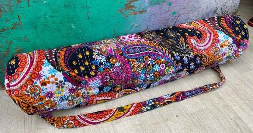 Handmade Kantha Yoga Bag