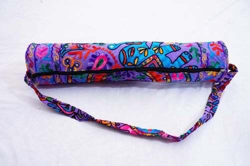 Embroidered Cotton Yoga Mat Bag