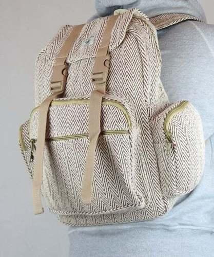 Large Pocket Natural Handmade Backpack