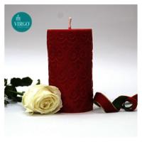 Embossed Pillar Motif Red pack of 1