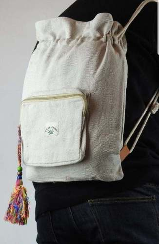 Plain Organic Drawstring Backpack