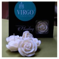Rose Medium-White, Vanilla 5 pieces