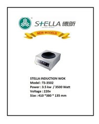 Stella Ts3502 Commercial Wok Induction Plate 3.5 Kw, Rs. 21000.00++