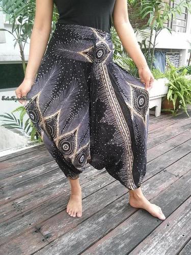 Peacock Print Baggy Style Hippie Harem Pants