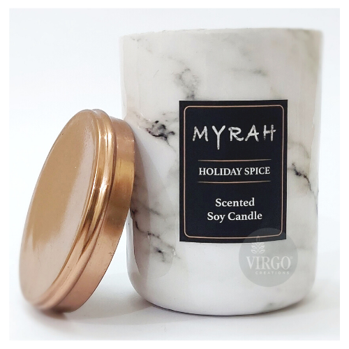 Myrah:scented Soy Wax Candle, Holiday Spice