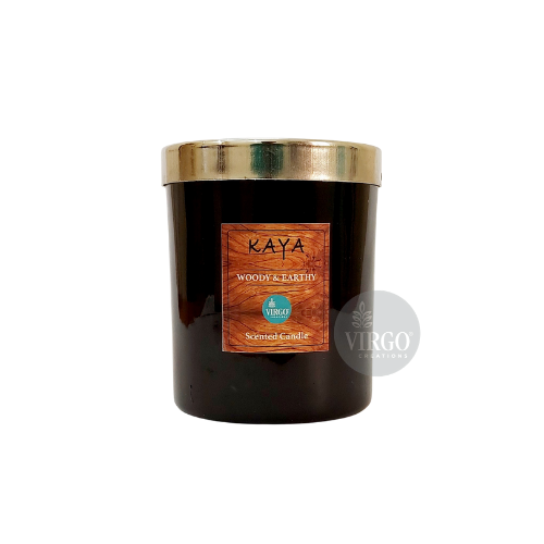 Kaya:scented Wax Candle, Woody & Earthy
