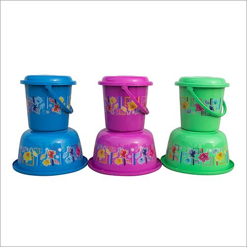 Konark Printed Tub & Bucket Set