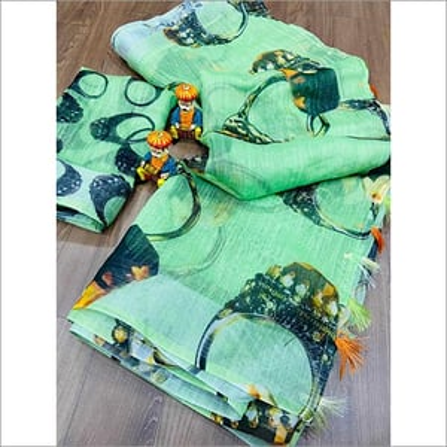 Ladies Linen Daily Wear Saree