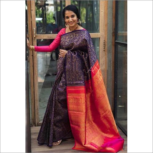 Ladies Litchi Silk Saree