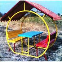 B-6 Mango Hut Shape Garden Bench