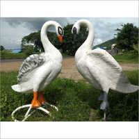 White Color Swan FRP Statue