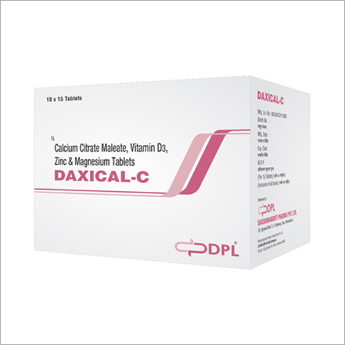 Calcium Citrate Maleate Vitamin D3 Zinc and Magnesium Tablets
