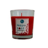 Freshrose:scented Votive, Red, Fresh Rose