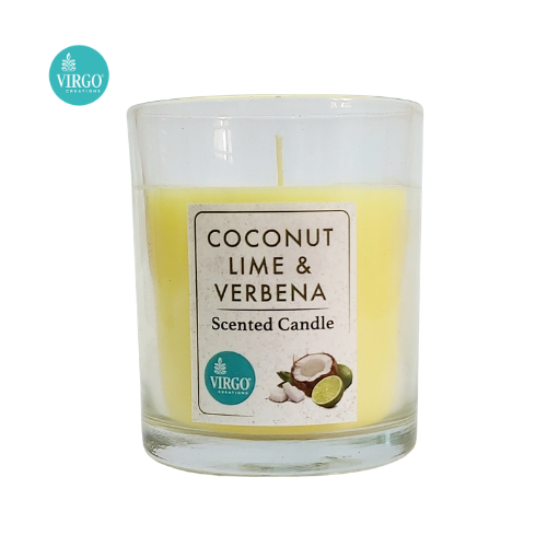 Coconut Lime& Verbena:scented Votive, Coconut Lime & Verbena