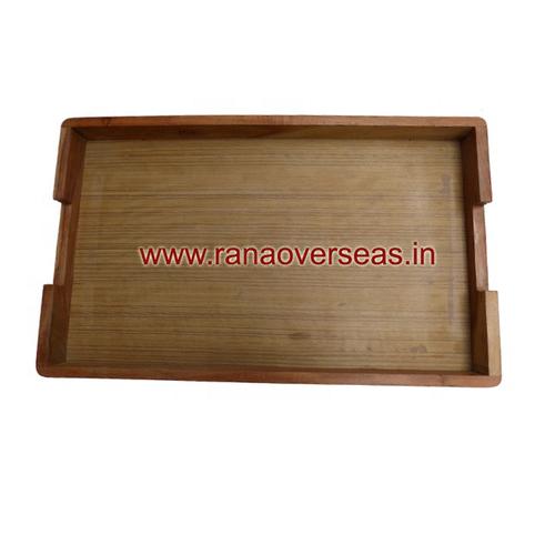 Rectangular Hard Wooden Design Serving Tray