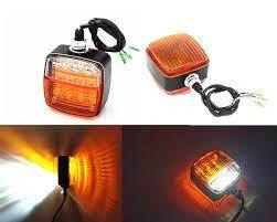 Forklift Dual Side Waterproof Side Indicator with Worklight 10-80V DC(HIS-FLWS-038)