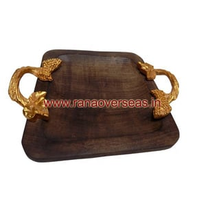 Wooden breakfast tea Serving Tray For Household Table wares